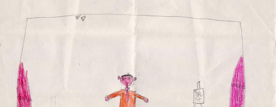 """El dibujo de Ariadna sobre el espectáculo """"La Llave del Tiempo"""""""